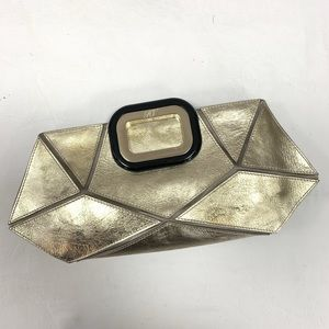 Authentic Roger Vivier Metallic Gold Prismick